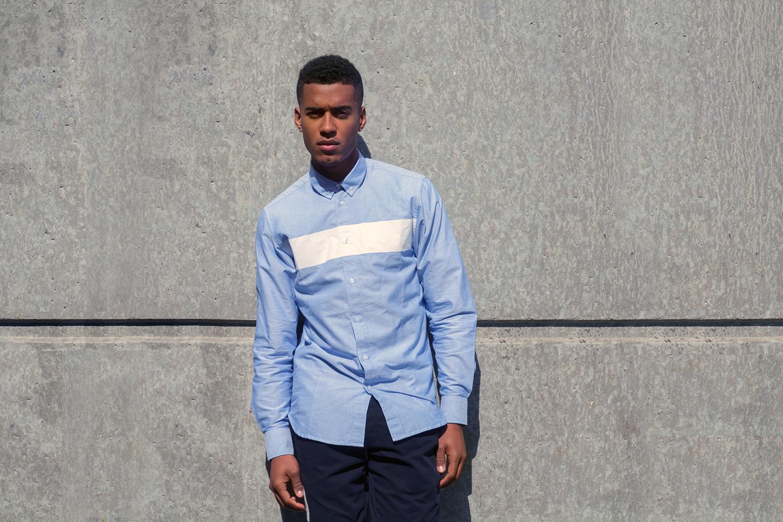 Quality Blanks Blue Heater White Stripe Shirt