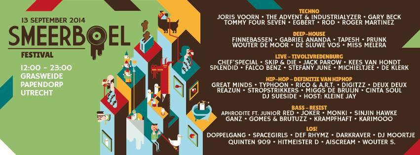 Smeerboel Festival 2014 Omslag