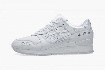 All white Asics - Asics Gel Lyte 3 Triple White