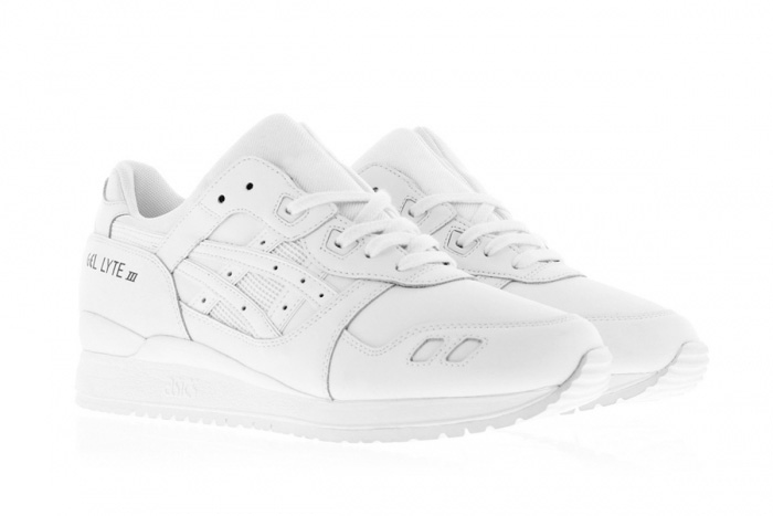 All white Asics - Asics Gel Lyte 3 Triple White Side-Front