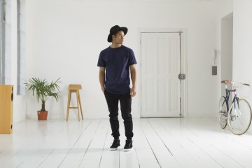 Everyday Fresh - FreshCotton Quality Blanks Black Jogger Navy Raglan Tee