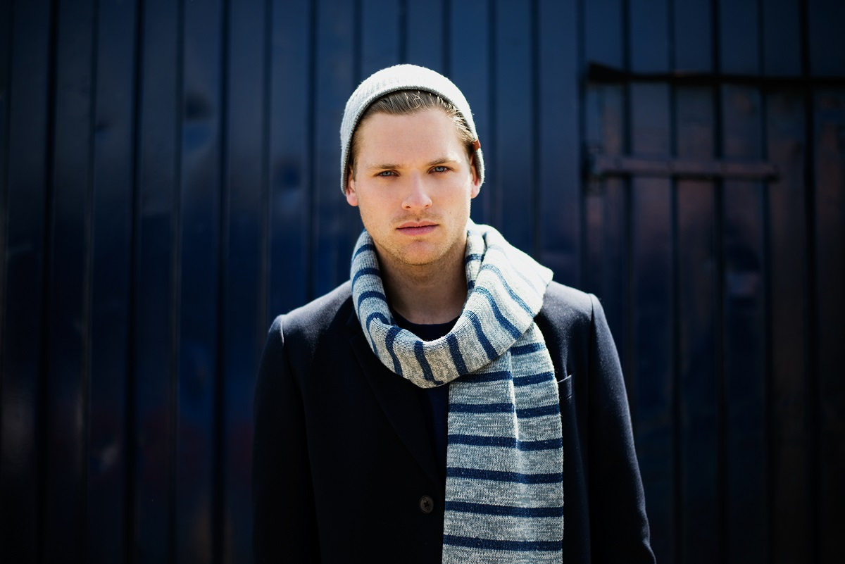 BICKLEY + MITCHELL Winter 14-15 Lookbook Striped Scarf