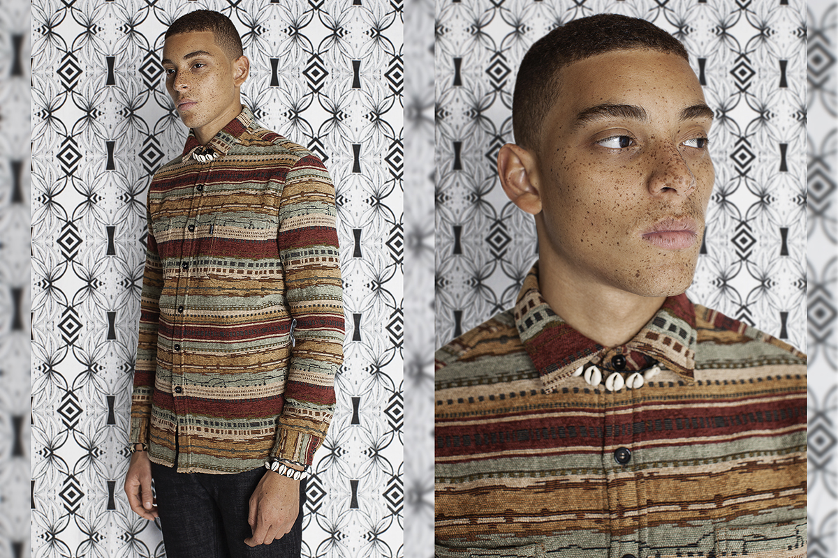 Daily Paper FW14 Lookbook Colorful Editorial Native Shirt 2