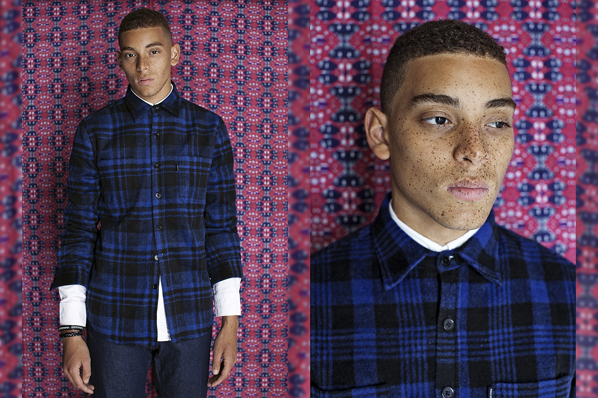 Daily Paper FW14 Lookbook Colorful Editorial Plaid Shirt