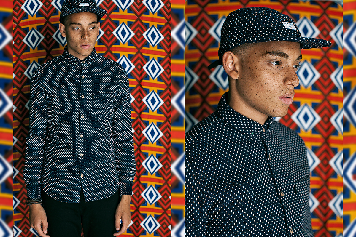 Daily Paper FW14 Lookbook Colorful Editorial Polka Shirt