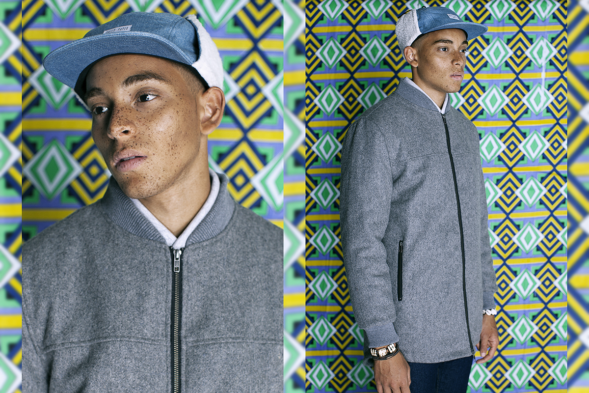 Daily Paper FW14 Lookbook Colorful Editorial Wool Bomber Long
