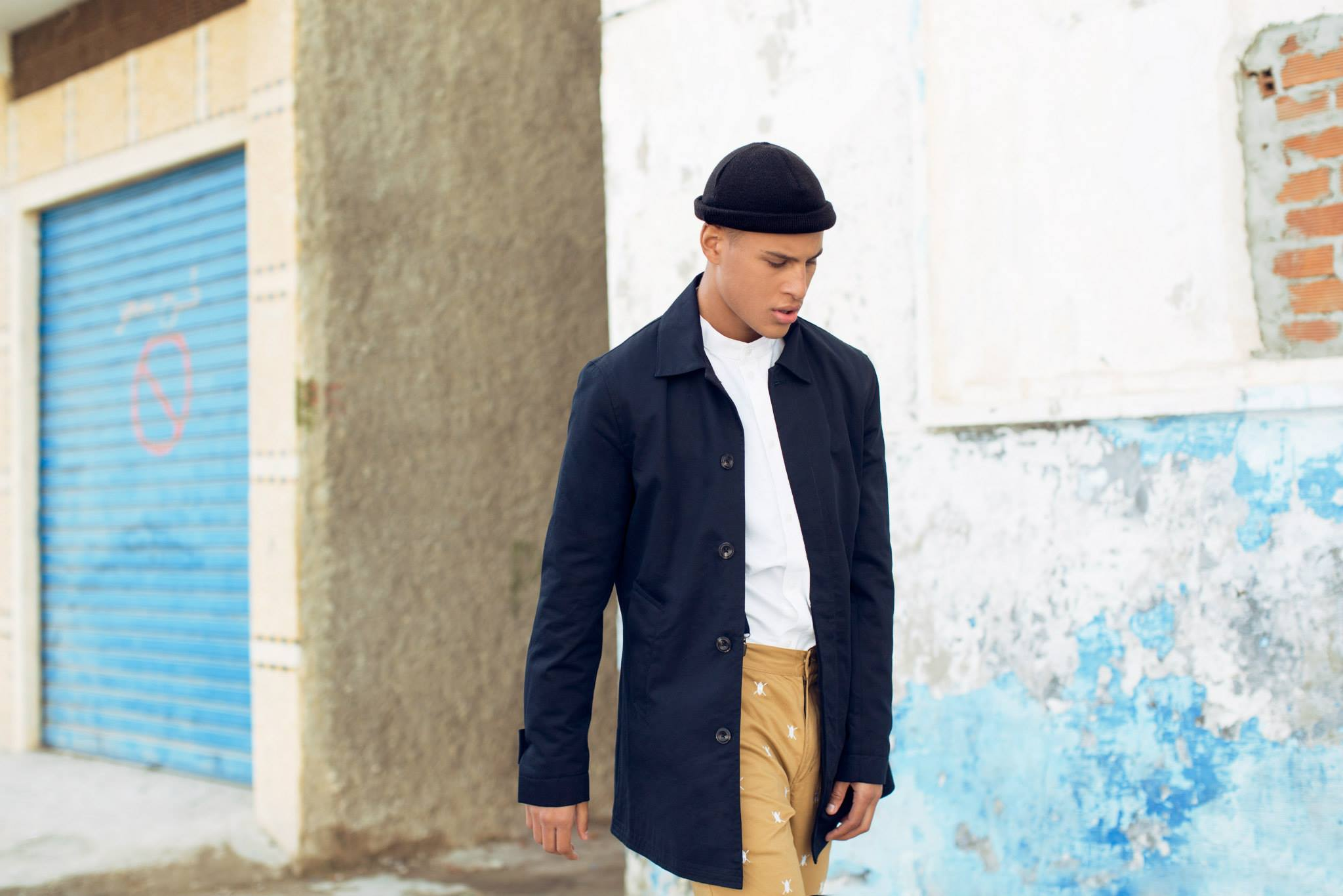 Daily Paper SS15 Lookbook Navy Trenchcoat