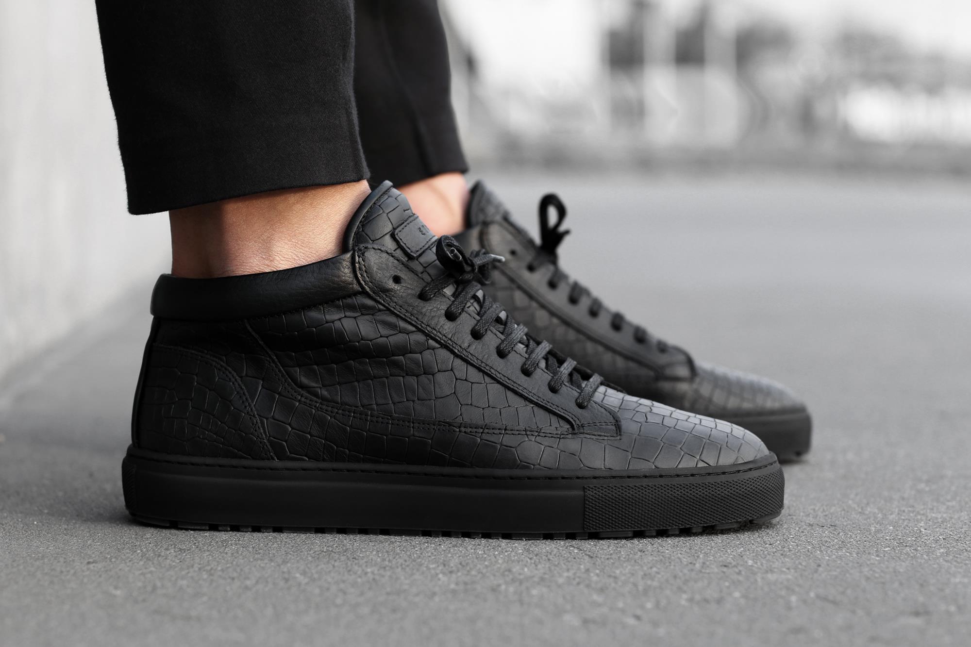 Etq. Etq. Mid-top Sneakers - Black Chaussures De Sport Mi-top - Noir uVYBJ
