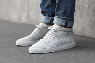 ETQ Amsterdam SS15 Collection Lookbook All White Mid Top