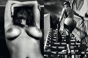 Kim Kardashion Naakt voor LOVE Magazine