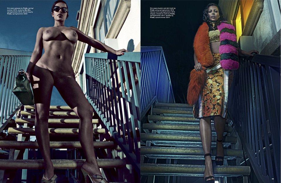 Kim Kardashian Naakt voor LOVE Magazine Trap