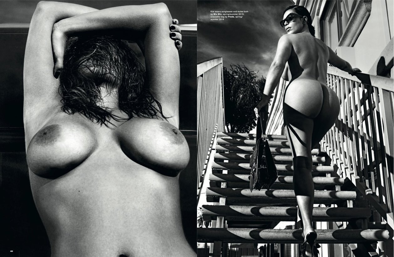 Kim Kardashian Naakt voor LOVE Magazine