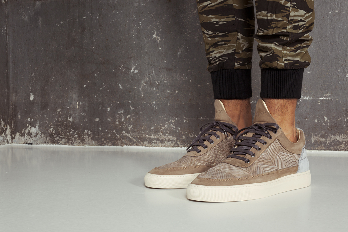 Filling Pieces SS15 Lookbook Drop 3 Low Top Lasered Brown