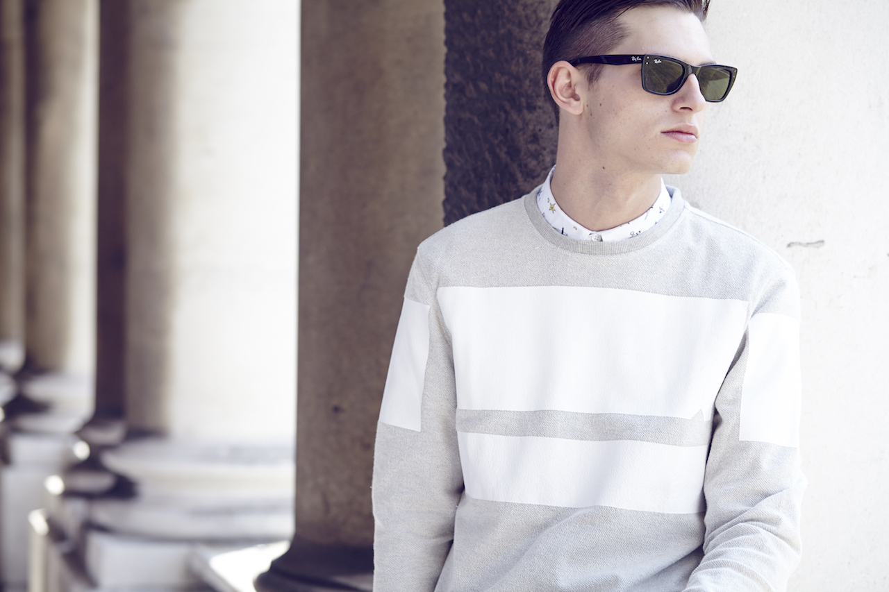 Notch London SS15 Lookbook Color block crewneck