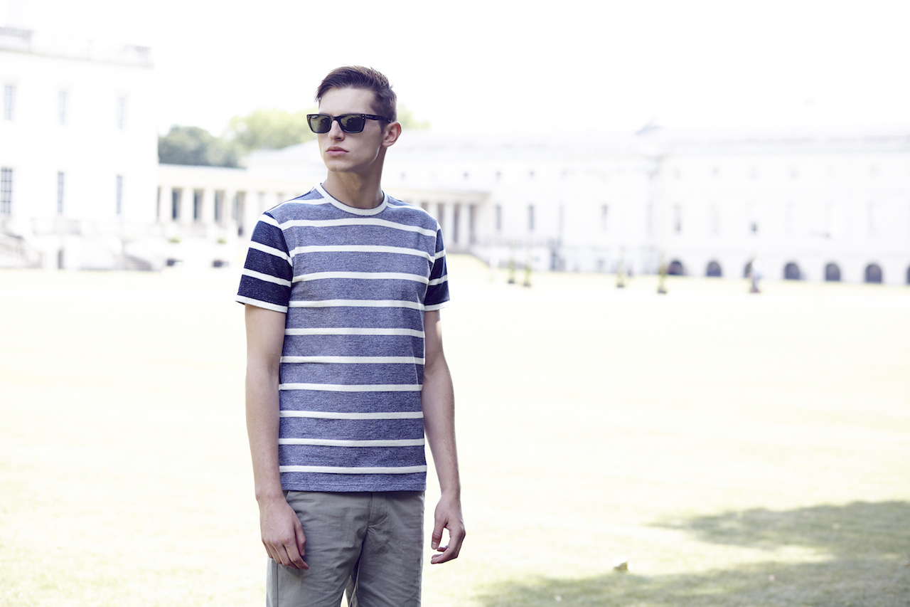 Notch London SS15 Lookbook Stripe t-shirt