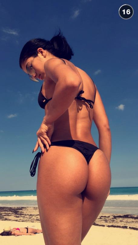 Yovanna Ventura Black Bikini Snapchat