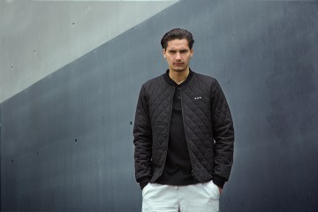 Quality Blanks Summer 15 Lookbook Black Quilted Jacket