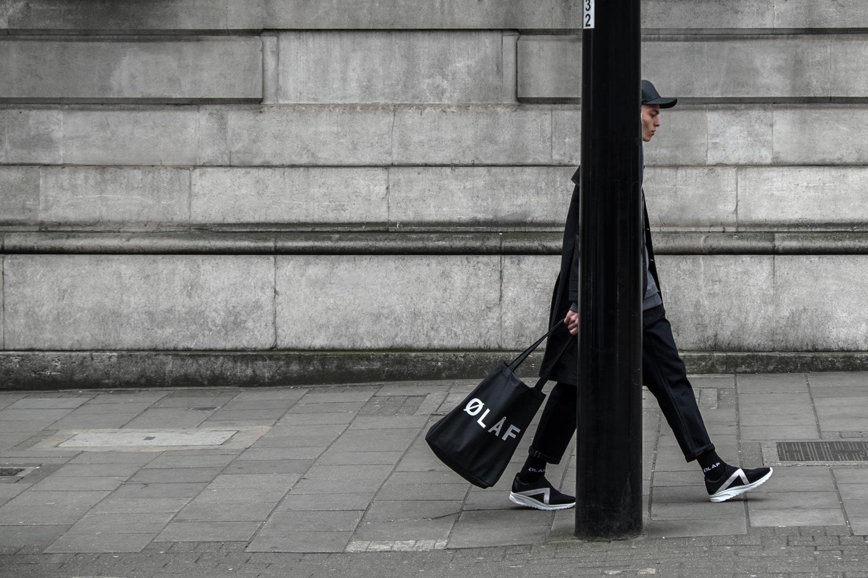 Olaf Hussein Black Tote Bag