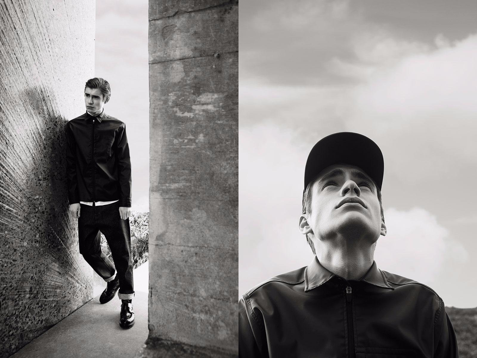 Olaf Hussein FW15 Lookbook Black Jacket