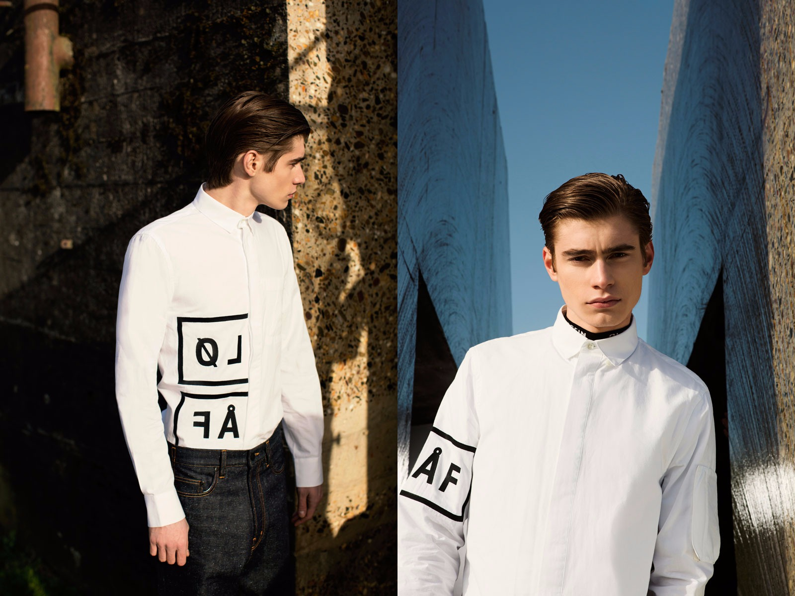 Olaf Hussein FW15 Lookbook White Shirt