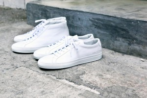 Common Projects all white low and mid