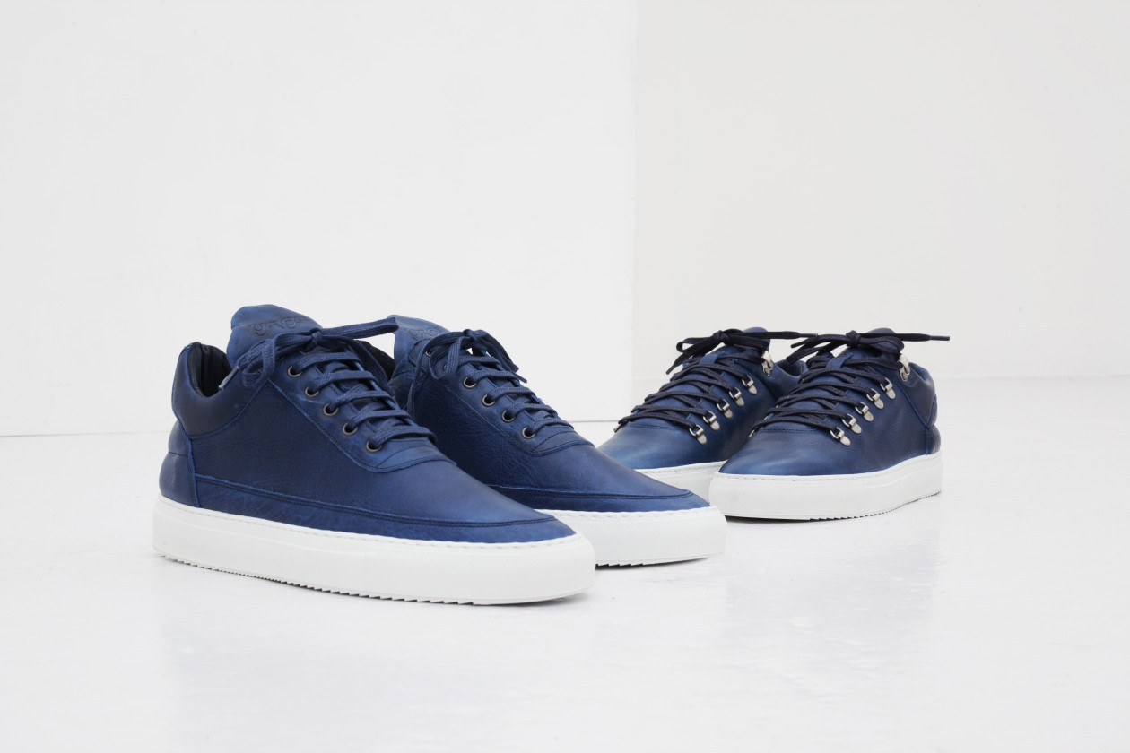Filling Pieces Fall 15 Lookbook Low Top Mountain Cut Blauw