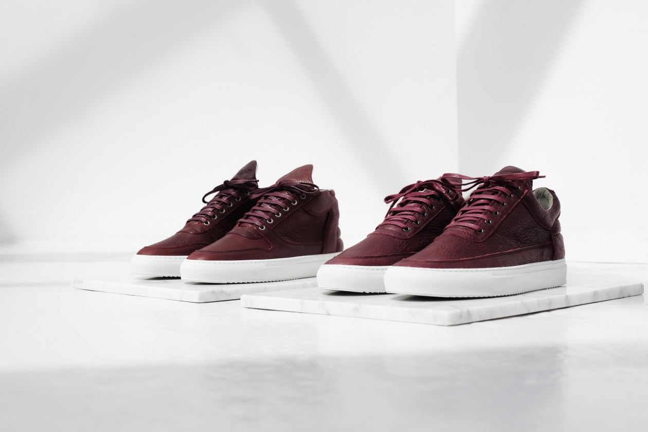 Filling Pieces Fall 15 Lookbook Low Top Mountain Cut Rood