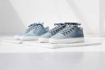 Filling Pieces Fall 15 Lookbook Low Top & Moutain Cut Licht Blauw