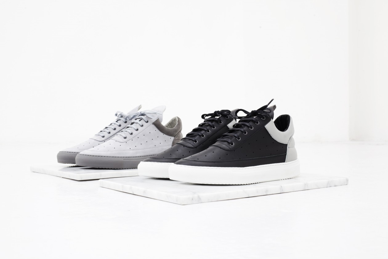 Filling Pieces Fall 15 Lookbook Low Top Perforated Grey Black