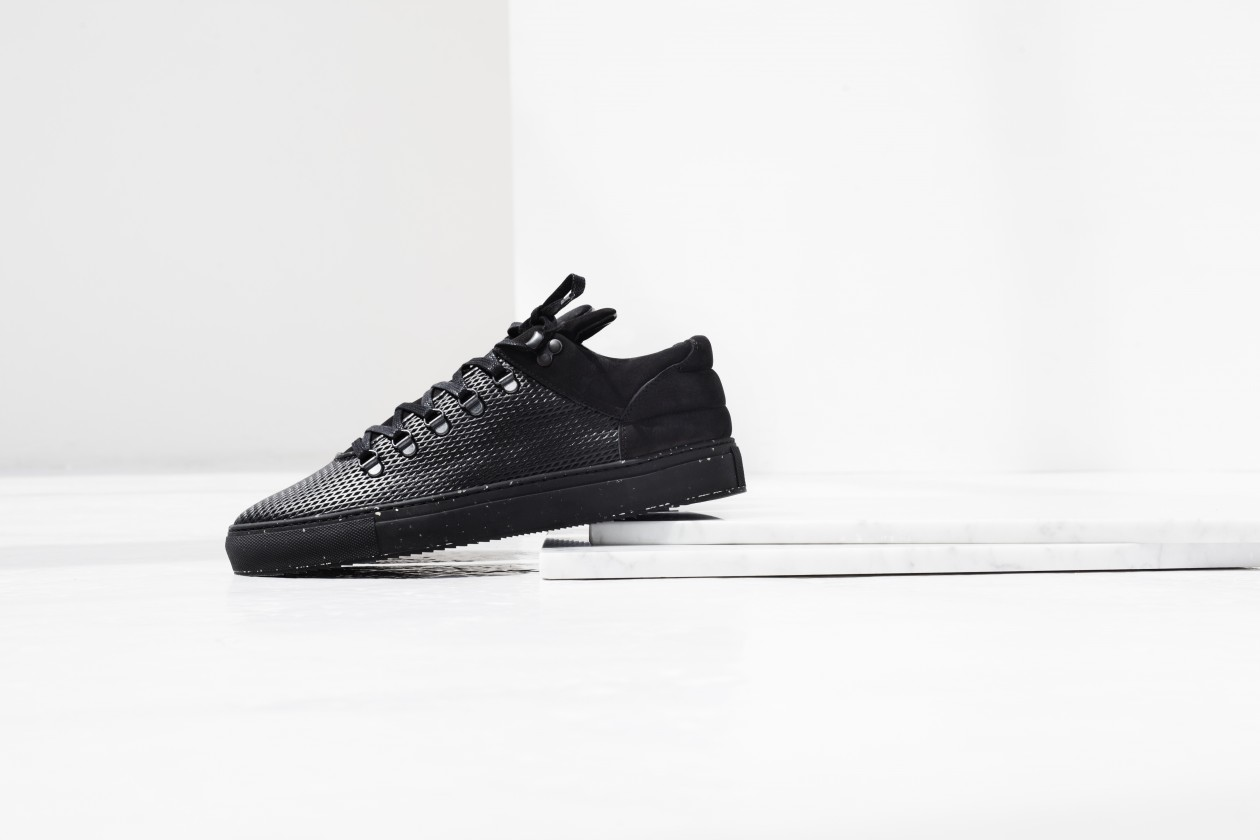 Filling Pieces Fall 15 Lookbook Mountain Cut Mid Top All Black Speckle Sole