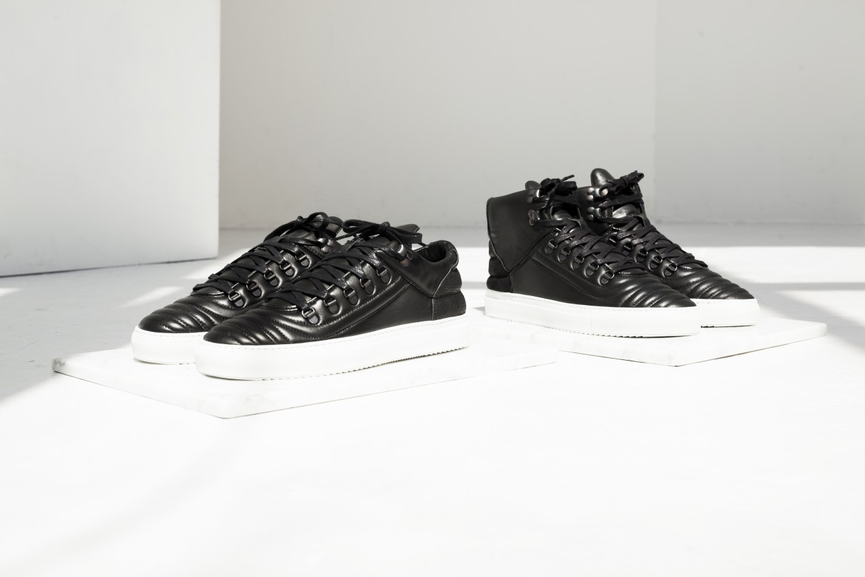 Filling Pieces Fall 15 Lookbook Mountain Cut Mid Top Black Quilted