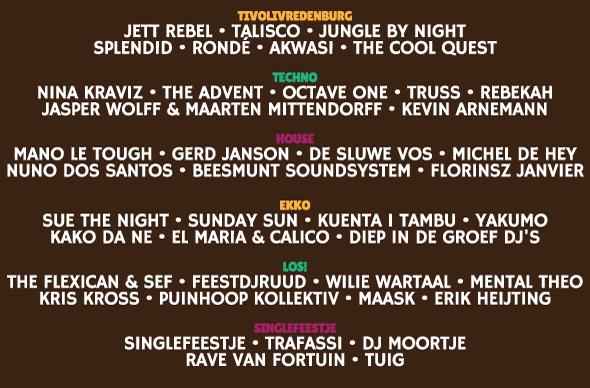 Programma Smeerboel Festival 2015