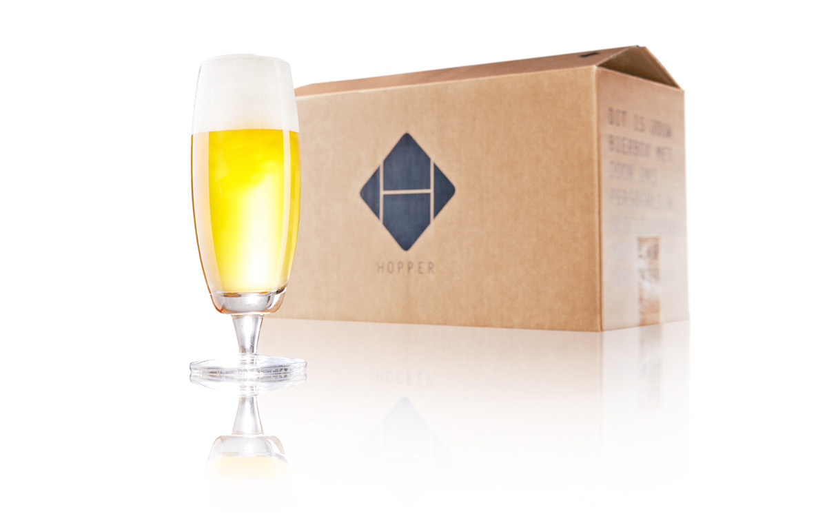 Hopper Bier met bier