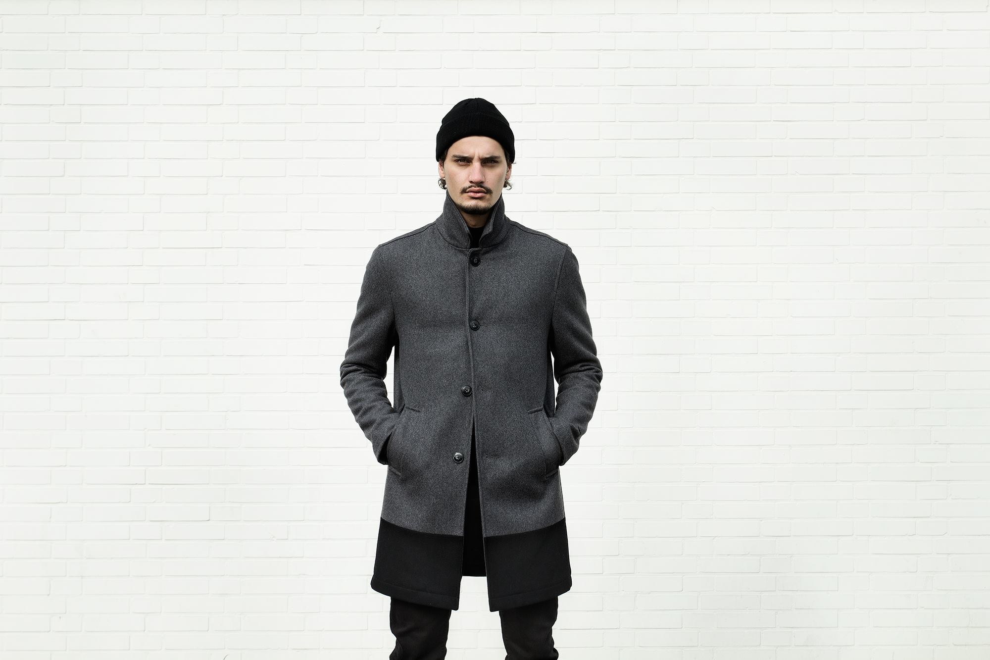 Quality Blanks Wollen Overcoat by FreshCotton Grey 2