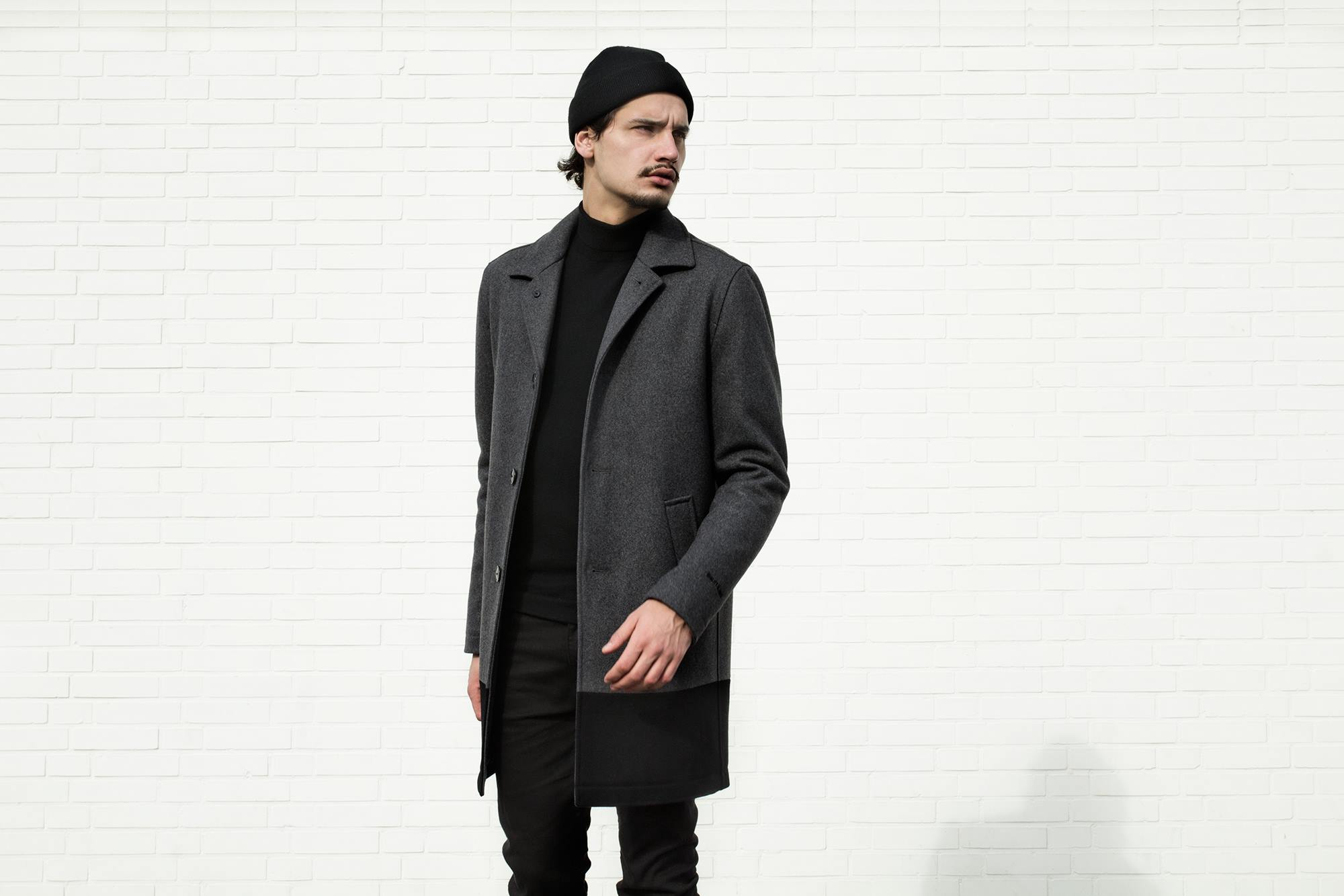 Quality Blanks Wollen Overcoat by FreshCotton Grey