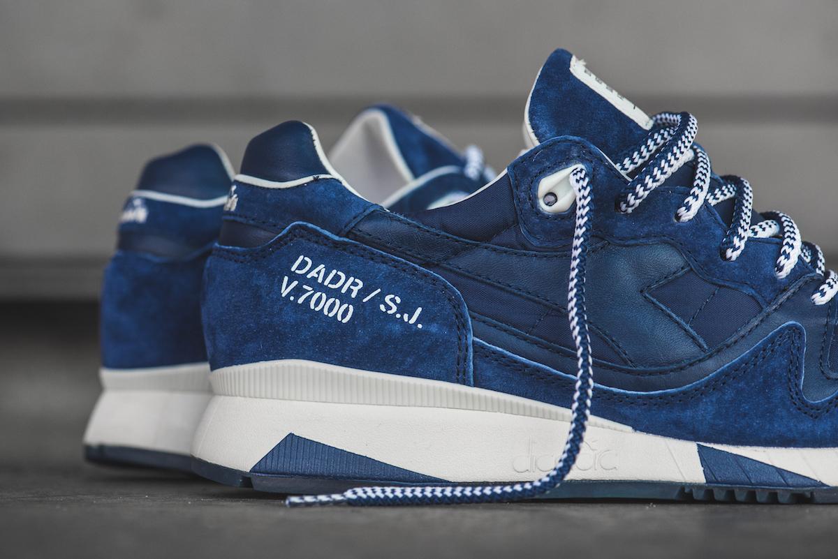 Slam Jam x Diadora V7000 Blue 3