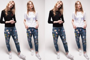 Zoe Karssen Patched Denim Jeans Double Cover