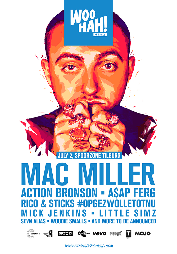 WOO HAH! 2016 Mac Miller flyer