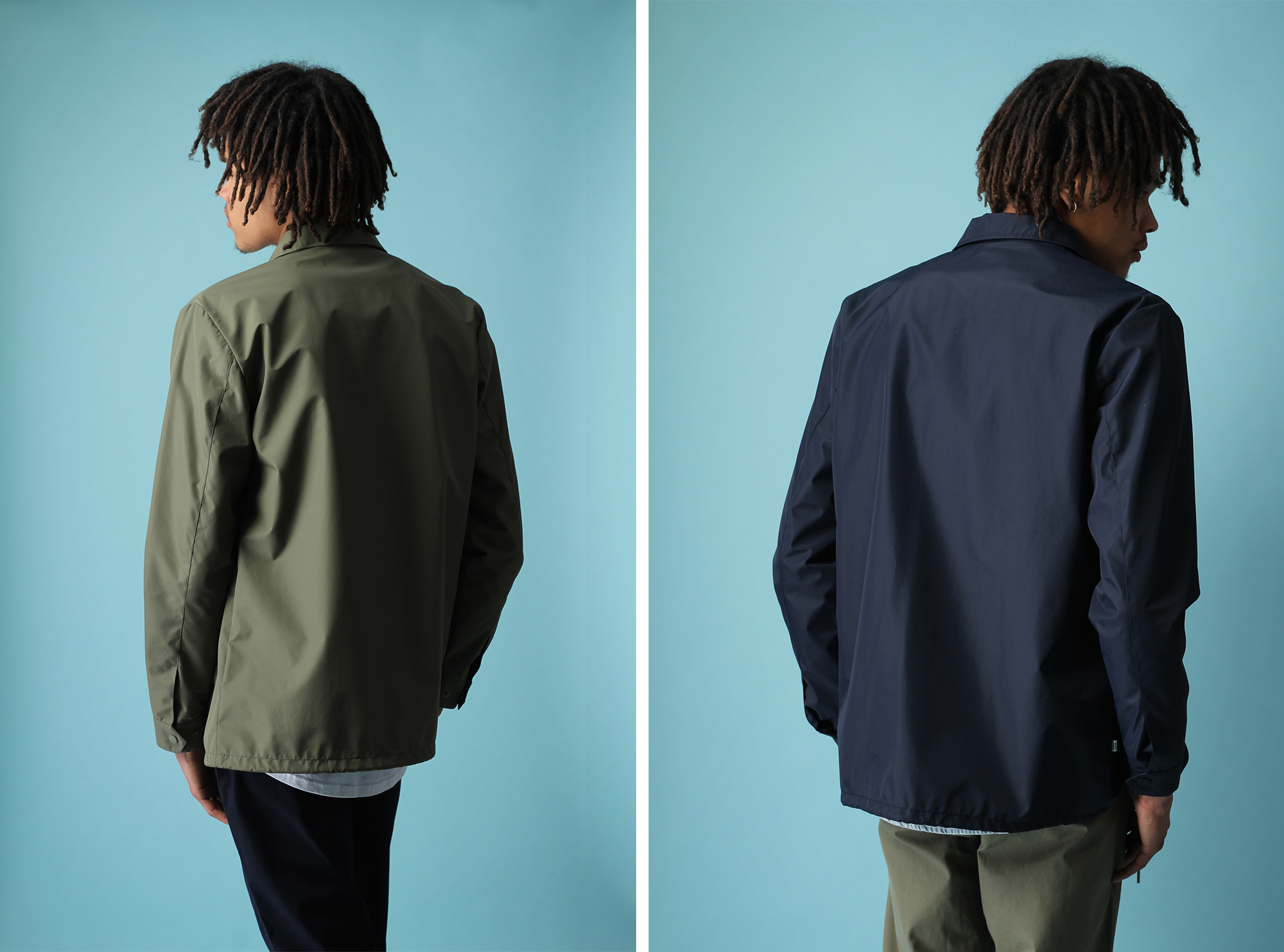 Quality Blanks Coach Jackets Navy Green 3