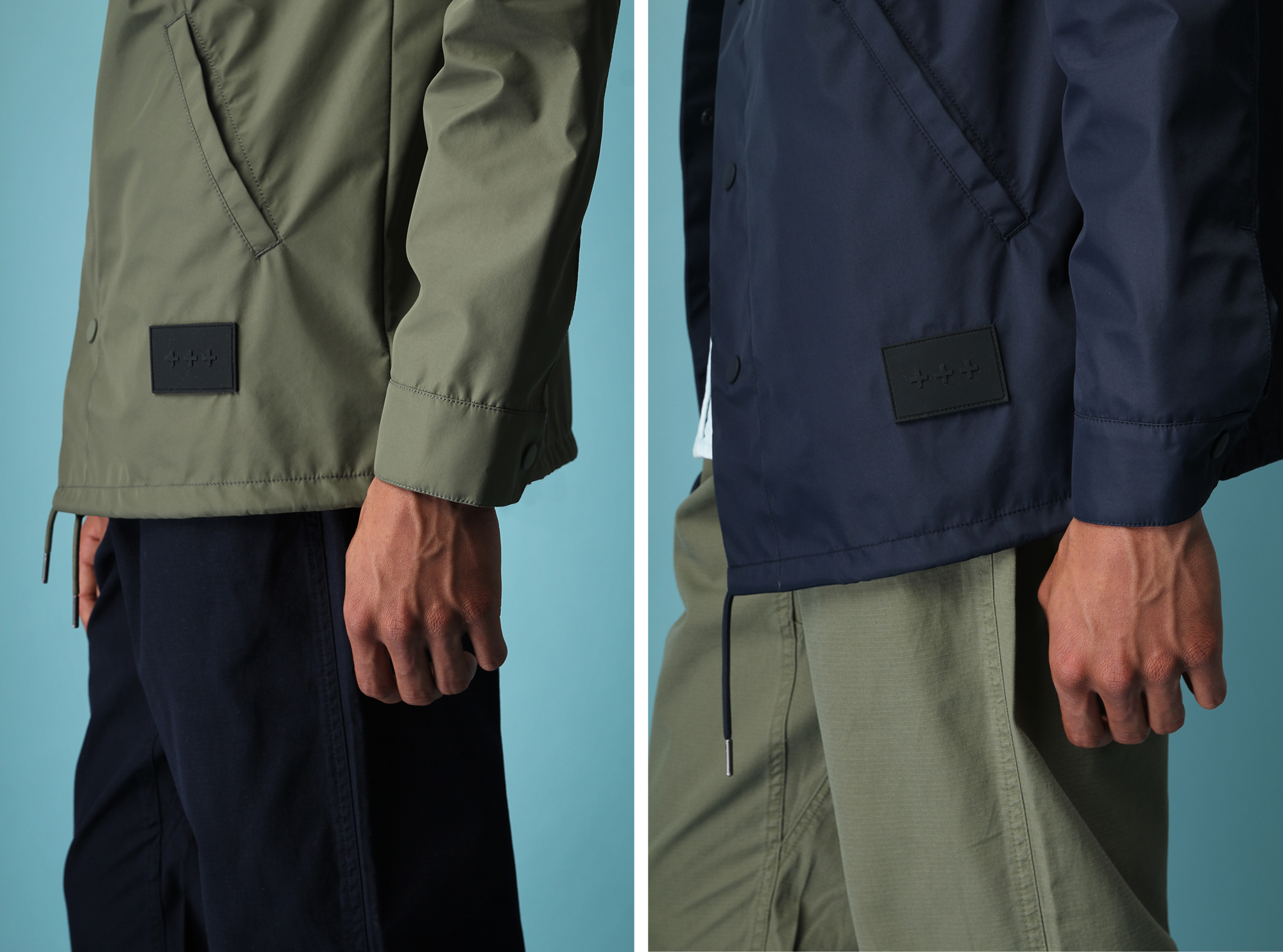 Quality Blanks Coach Jackets Navy Green 5
